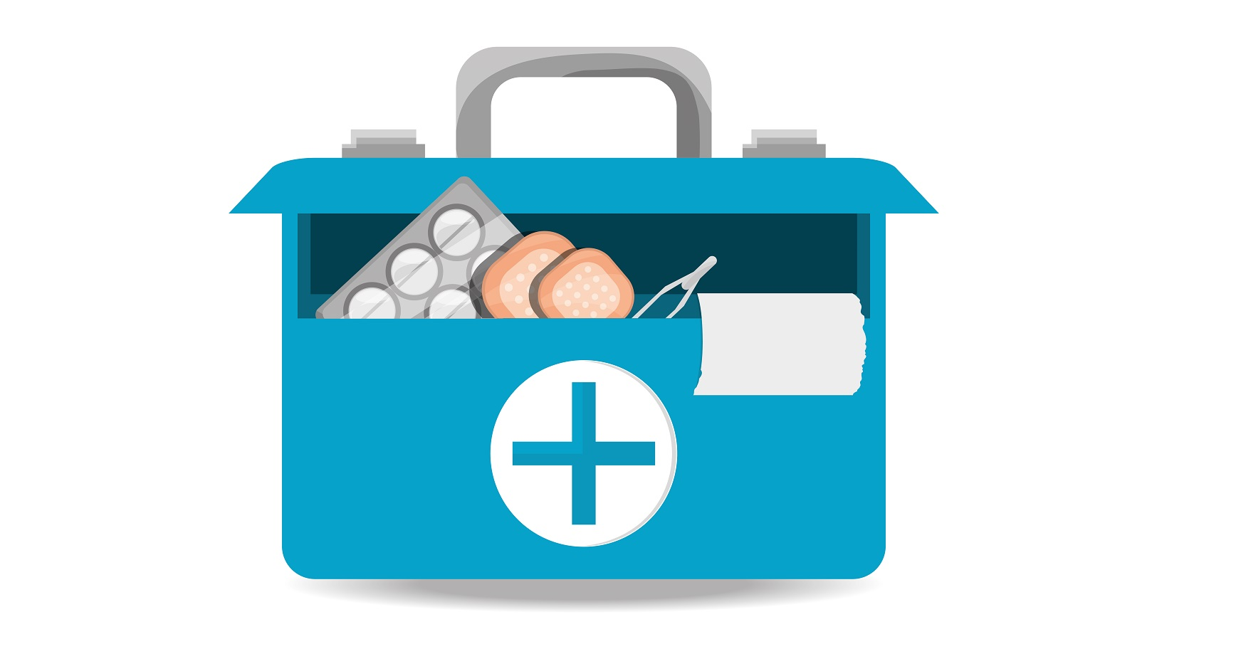 suitcase first aid kit with medical tools